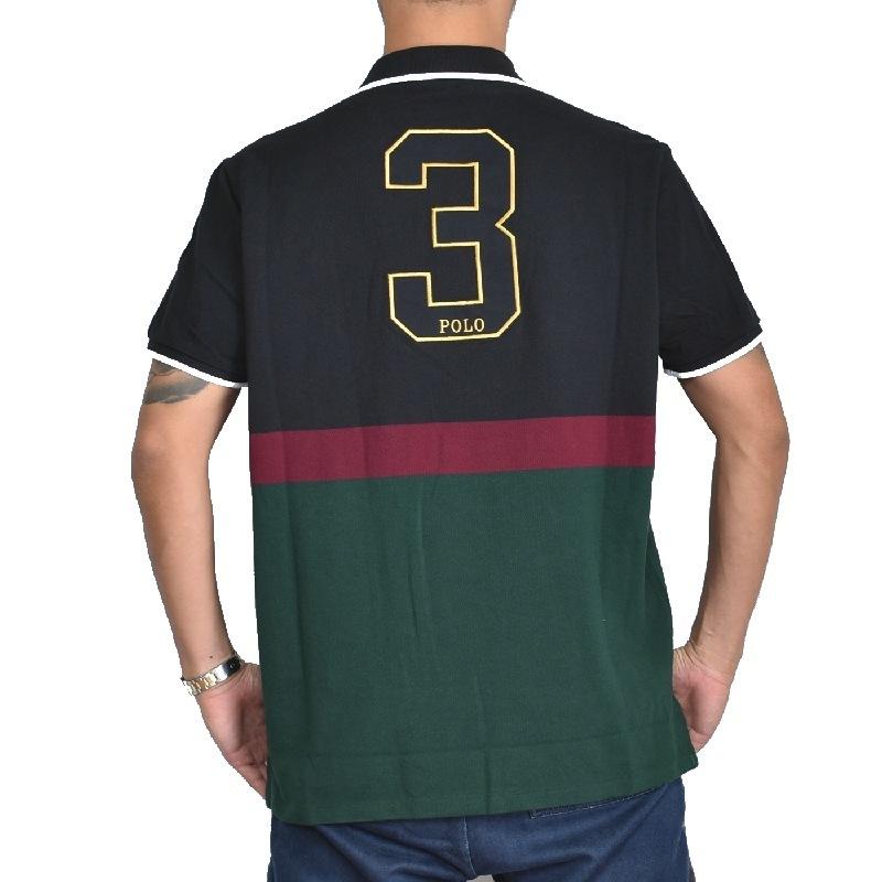 大きいサイズ メンズ ポロラルフローレン POLO RALPH LAUREN ビッグポニー 鹿の子 半袖ポロシャツ custom slim fit XL XXL