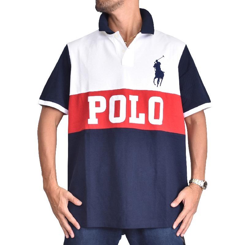 大きいサイズ メンズ ポロラルフローレン POLO RALPH LAUREN ビッグポニー ロゴ 鹿の子 半袖ポロシャツ classic fit L XL XXL