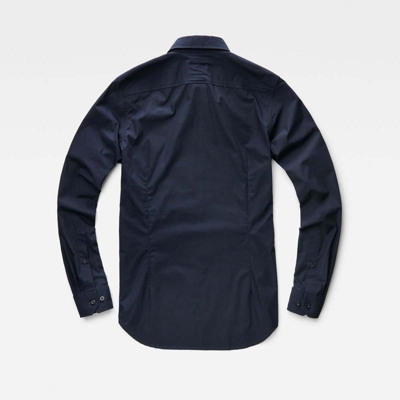 大きいサイズ メンズ G-STAR RAW ジースターロゥ 長袖シャツ ワンポイント 黒 ネイビーブルー XXL