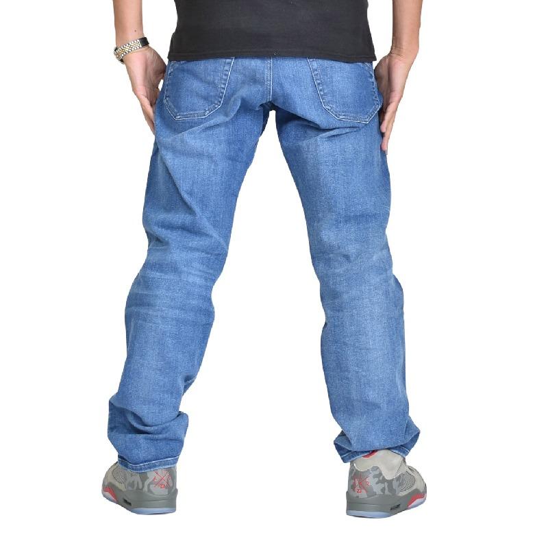 大きいサイズ メンズ DIESEL ディーゼル デニムパンツ ジーンズ レギュラー スリム テーパード REGULAR SLIM TARPERED IAKOP WASH 0830E STRETCH 40インチ
