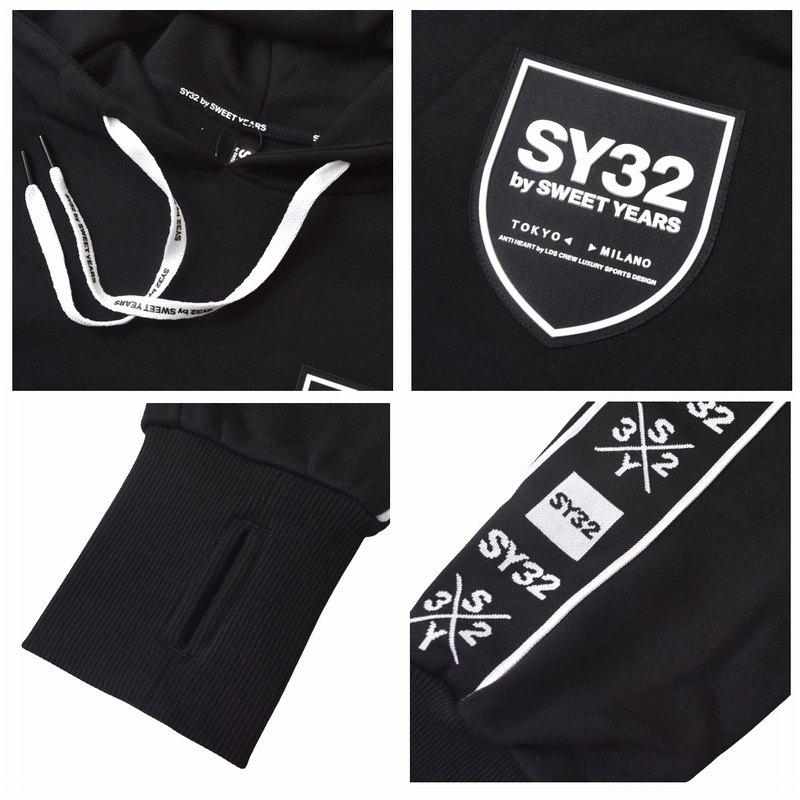 【別注】 大きいサイズ メンズ SY32 by SWEET YEARS スウィートイヤーズ LINE TAPE  HOODIE SWEAT PANTS ラインテープ プルオーバー フーディー パーカー スウェット セットアップ 上下 XXL XXXL XXXXL