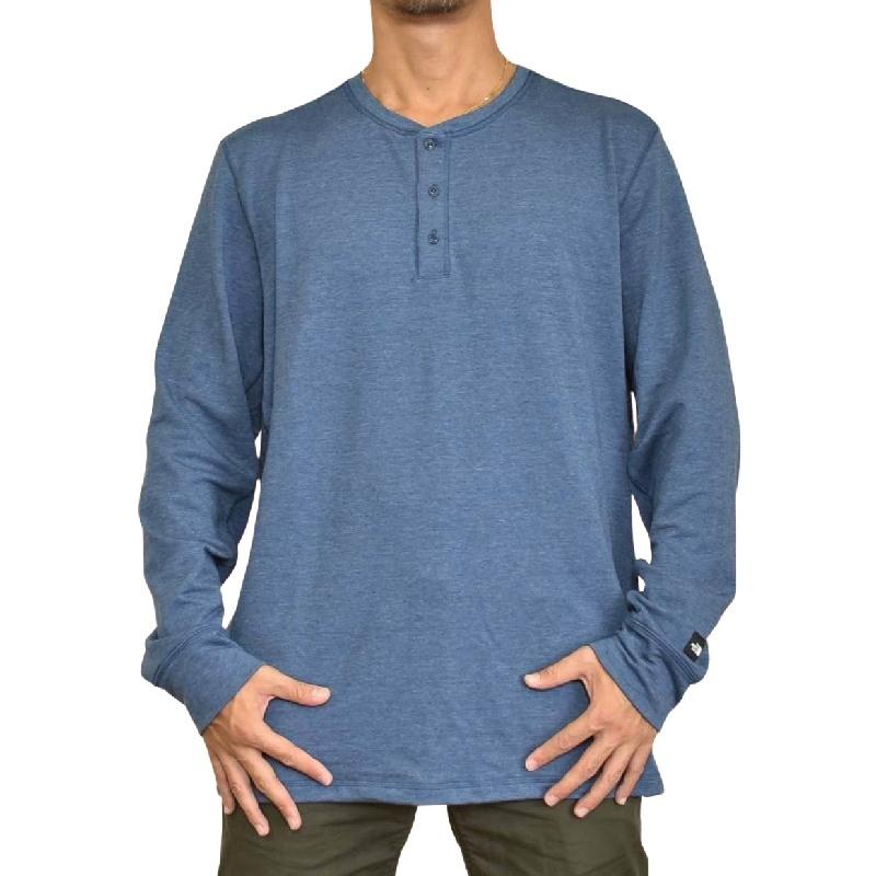 大きいサイズ メンズ ノースフェイス THE NORTH FACE ロンT 長袖 Tシャツ ヘンリーカットソー USAモデル XL XXL