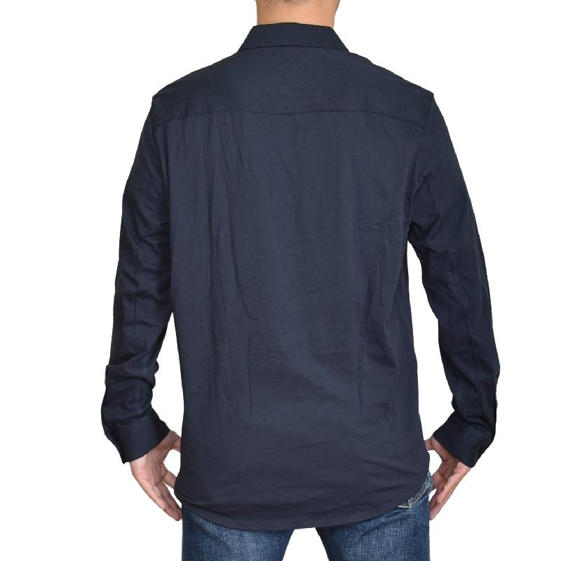 大きいサイズ メンズ アルマーニエクスチェンジ A/X ARMANI EXCHANGE デザイン カジュアル 長袖シャツ ネイビー REGULAR FIT XL XXL