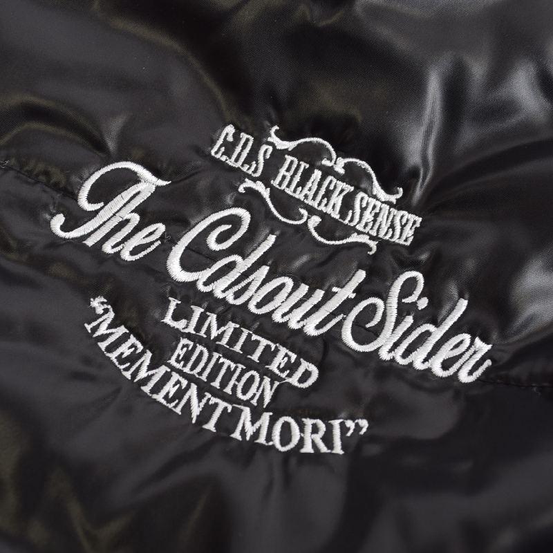 【SALE】 大きいサイズメンズ クールドライブストライカー C.D.S Black スカル刺繍 中綿ジャケット アウター ブルゾン 黒 ブラック 3L 4L 5L