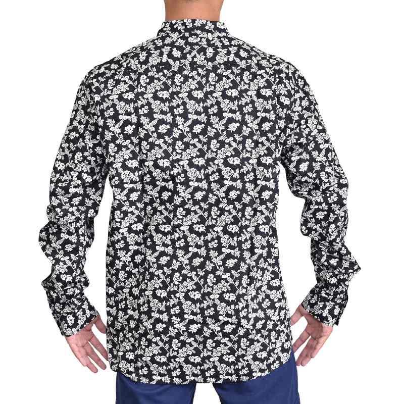 大きいサイズ メンズ REPLAY リプレイ 長袖シャツ  花柄 フラワープリント XXL XXXL