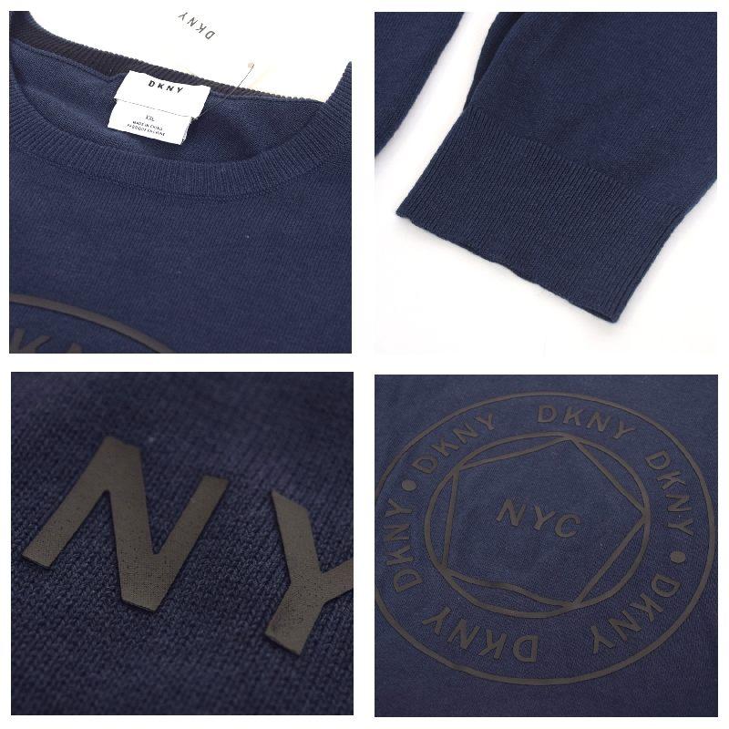 【SALE】 大きいサイズ メンズ DKNY ダナキャランニューヨーク サークルロゴ セーター ニット カットソー XL XXL