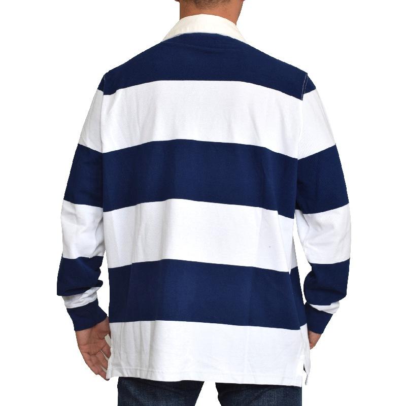 大きいサイズ メンズ ポロラルフローレン POLO RALPH LAUREN 長袖ポロシャツ ラガーシャツ ボーダー POLO刺繍 Custom Fit XL XXL