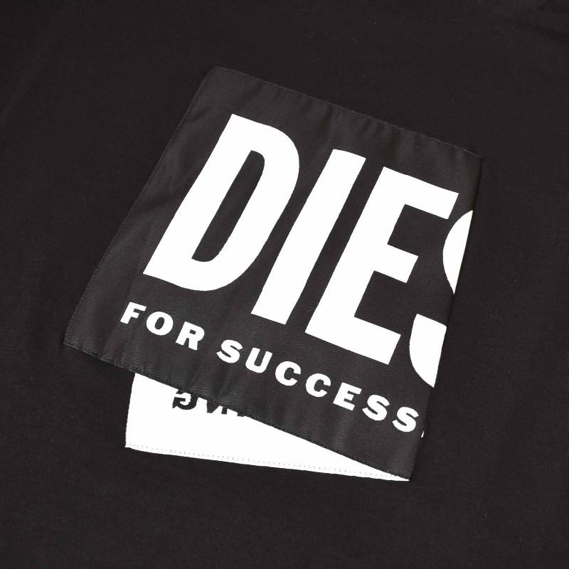 大きいサイズ メンズ DIESEL ディーゼル 半袖 クルーネック Tシャツ 黒 ブラック T-DIEGOS-LAB XXL 【メール便対応】 [M便 1/1]