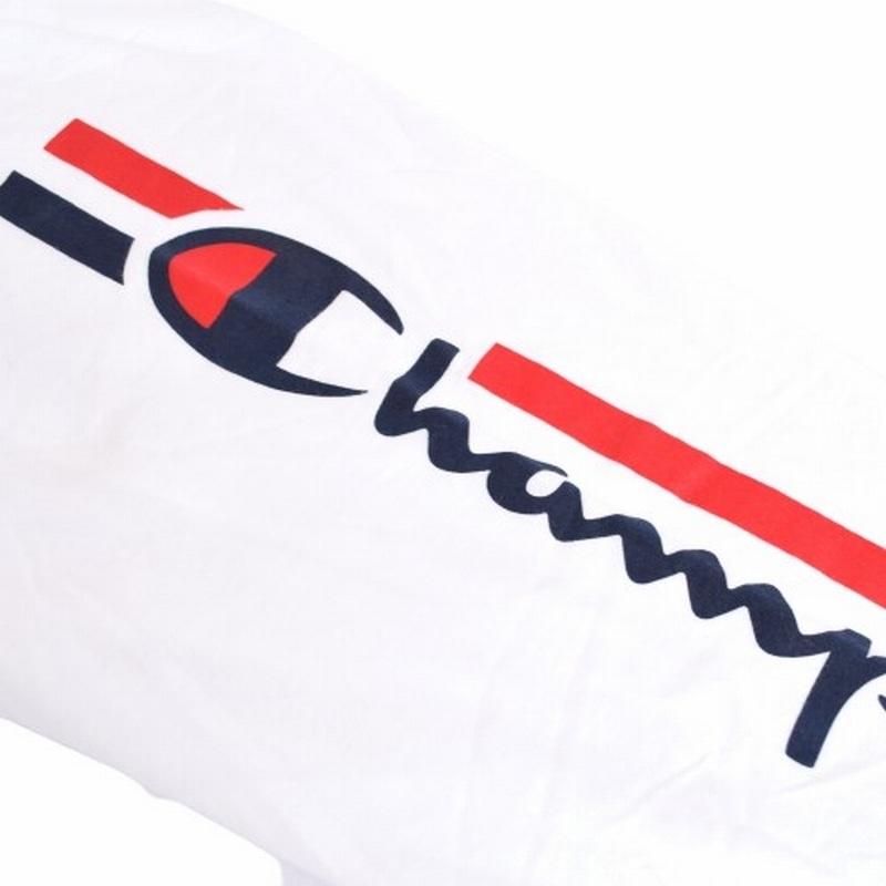 大きいサイズメンズ チャンピオン Champion 長袖Tシャツ ロンT アームロゴ アメカジ USAモデル XL XXL ホワイト 白 【メール便対応】 [M便 1/1]