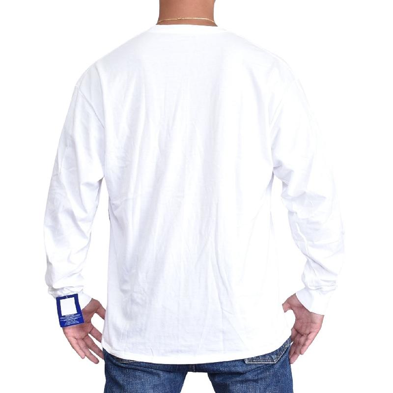 大きいサイズメンズ チャンピオン Champion 長袖Tシャツ ロンT ビッグロゴ アメカジ USAモデル XL XXL ホワイト 白 ネイビー 【メール便対応】 [M便 1/1]