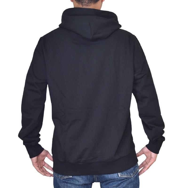 大きいサイズ メンズ DIESEL ディーゼル S-GIRK-HOOD-SMALLOGO パーカー プルオーバー スウェット 黒 ブラック XXL