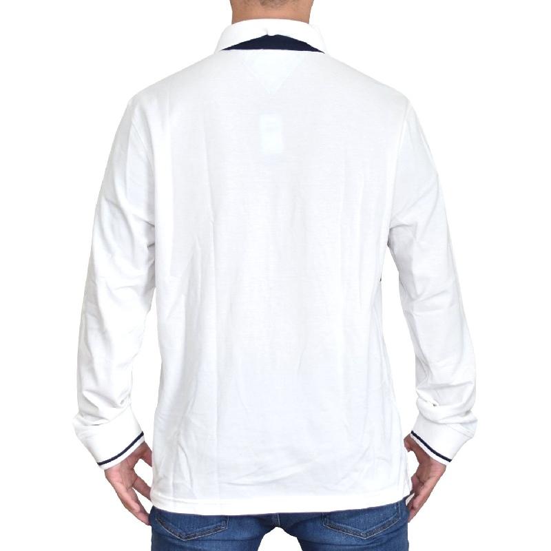 大きいサイズメンズ TOMMY HILFIGER トミーヒルフィガー ボーダー 長袖ポロ ラガーシャツ XL XXL XXXL