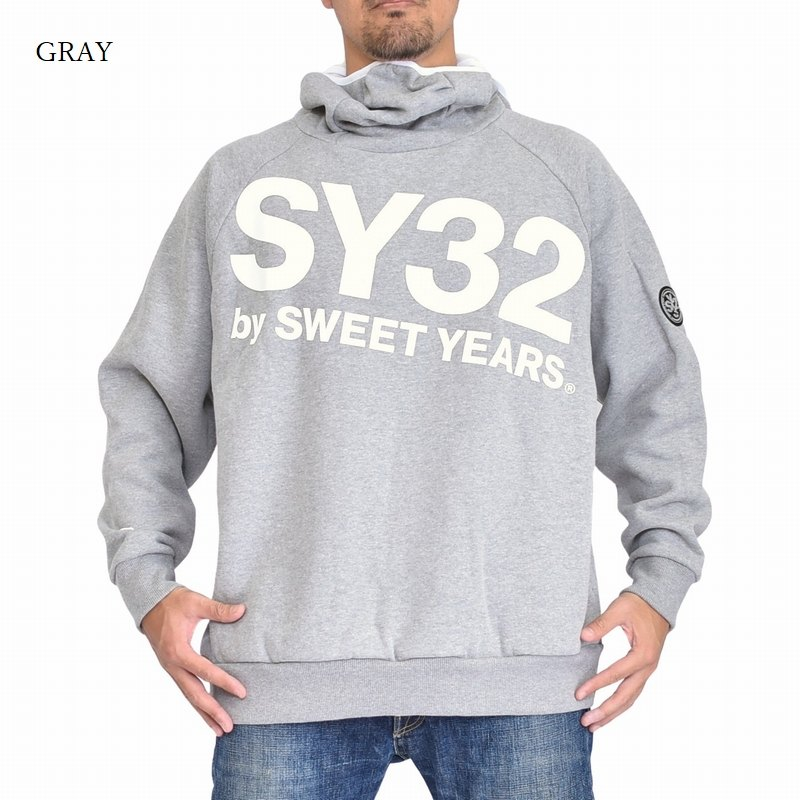 【別注】 大きいサイズ メンズ SY32 by SWEET YEARS マスクフーディー スウェット プルオーバー パーカー XXXL XXXXL