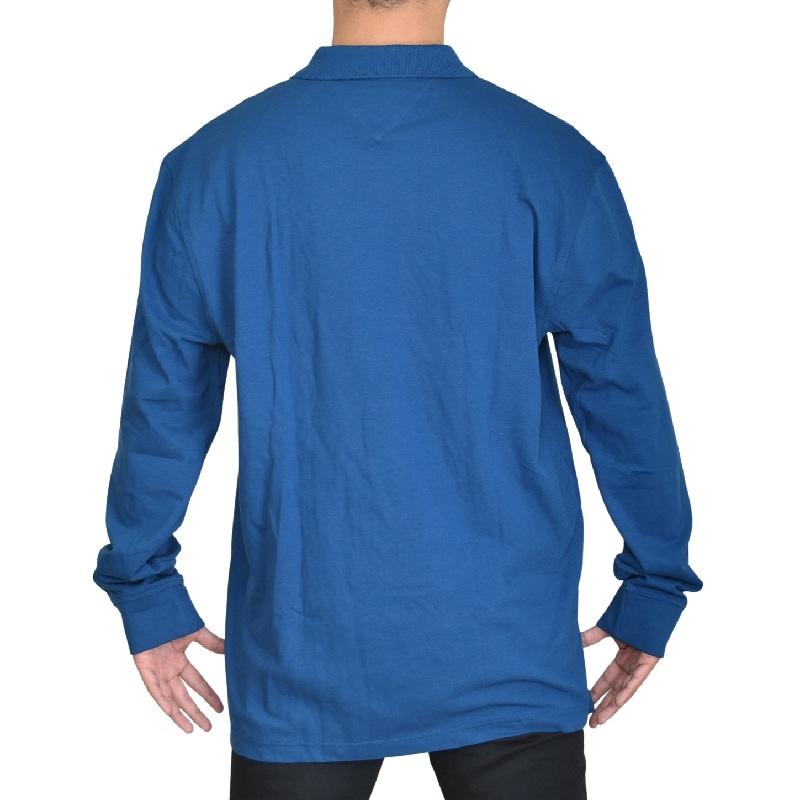 大きいサイズメンズ TOMMY HILFIGER トミーヒルフィガー 長袖 ポロシャツ ワンポイント 鹿の子 ラガーシャツ XL XXL XXXL