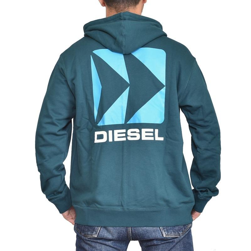 大きいサイズ メンズ Diesel ディーゼル パーカー フルジップ 裏毛 スウェット BEACHWEAR BMOWT-BRANDON-Z SWEAT SHIRT XXL