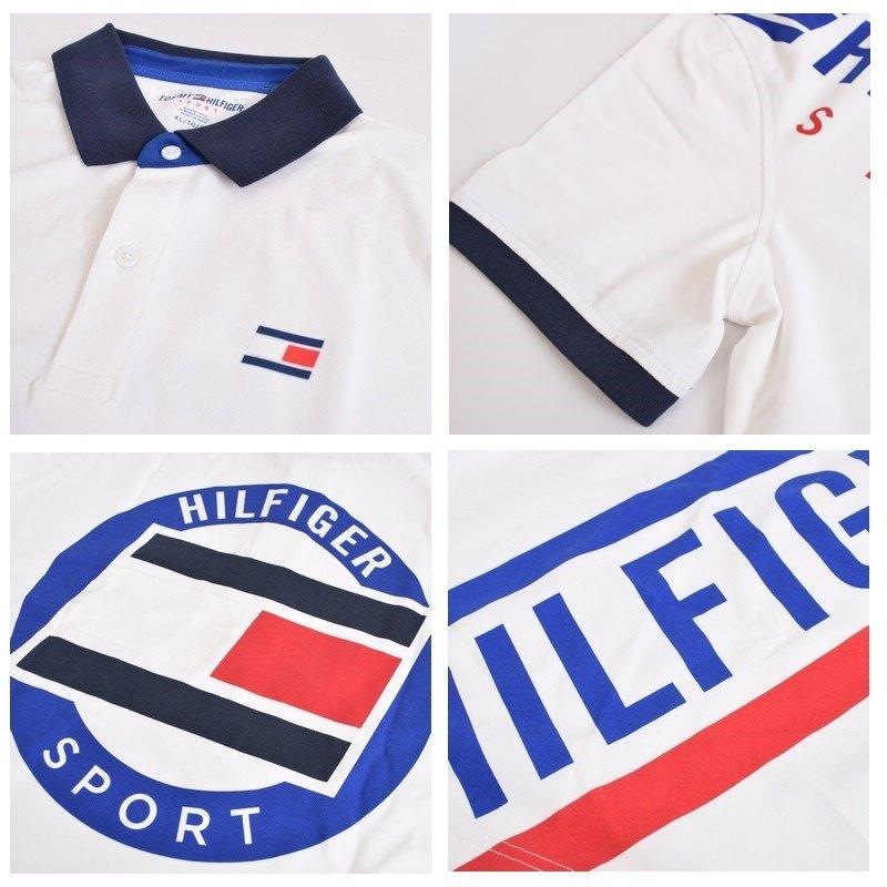 大きいサイズメンズ トミーヒルフィガースポーツ TOMMY HILFIGER SPORT 半袖 ポロシャツ ホワイト 白 XL XXL