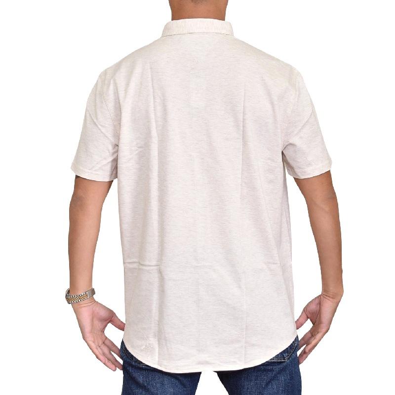 大きいサイズ メンズ トミーヒルフィガー TOMMY HILFIGER 半袖シャツ 鹿の子 ボタンダウン ワンポイント ボタンダウント XXL XL