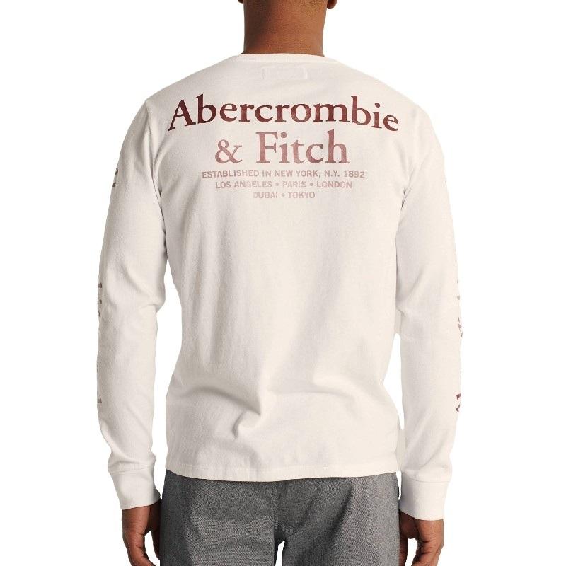 大きいサイズ メンズ アバクロ Abercrombie&Fitch ロンT 長袖Tシャツ クルーネック ロゴグラフィック XXL 【メール便対応】 [M便 1/1]