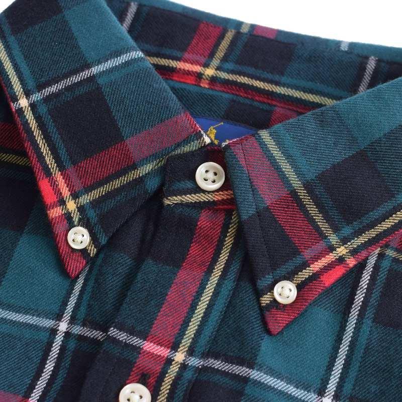 大きいサイズ メンズ ポロラルフローレン POLO RALPH LAUREN 長袖 ネルシャツ ワンポイント チェック ボタンダウン CLASSIC FIT XL XXL