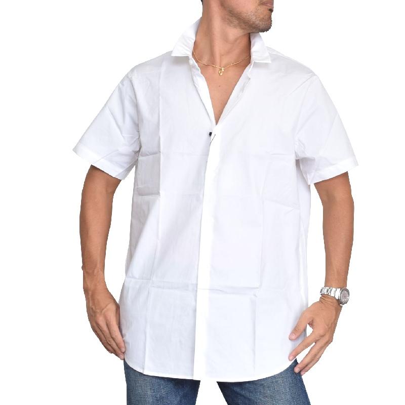 大きいサイズ メンズ アルマーニエクスチェンジ A/X ARMANI EXCHANGE カジュアル 半袖シャツ コットン ホワイト 白 XL XXL