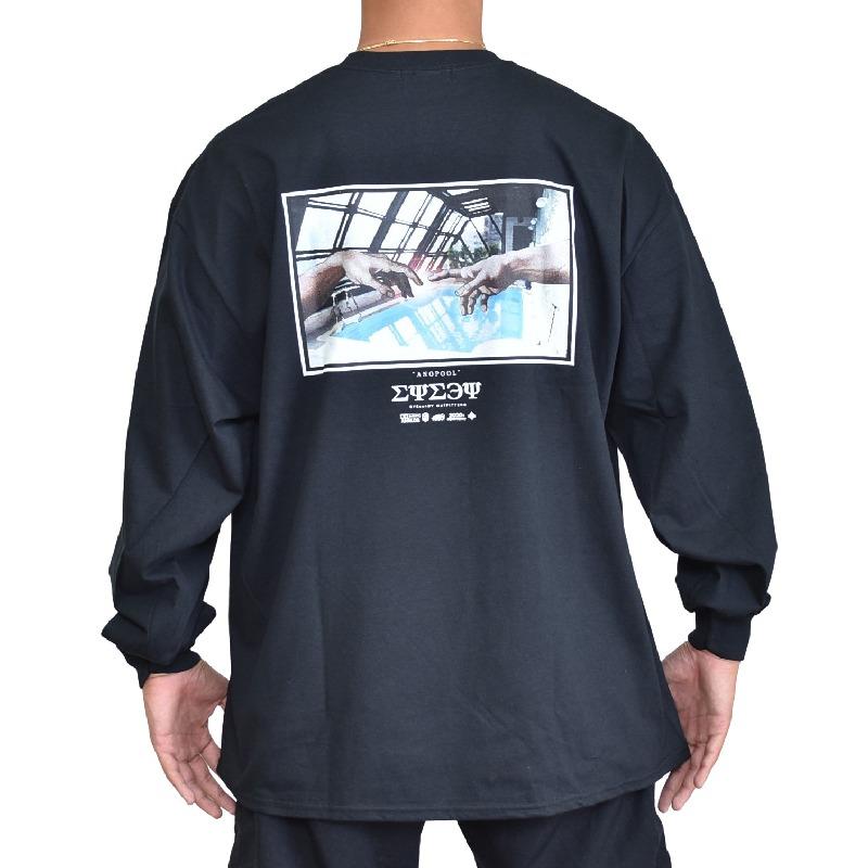 大きいサイズ メンズ EYEDY アイディー ロンT 長袖Tシャツ ANOPOOL 白 黒 ホワイト ブラック XXL XXXL 【メール便対応】 [M便 1/1]