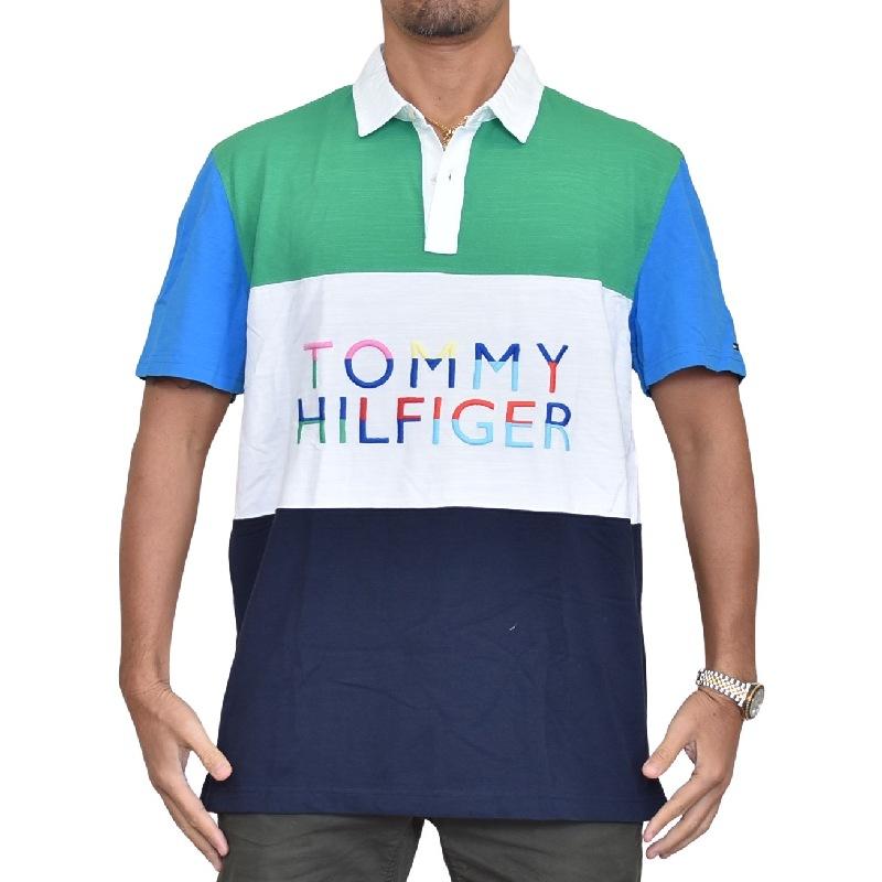 大きいサイズメンズ トミーヒルフィガー TOMMY HILFIGER 半袖 ポロシャツ ワンポイント ホワイト 白 XL XXL
