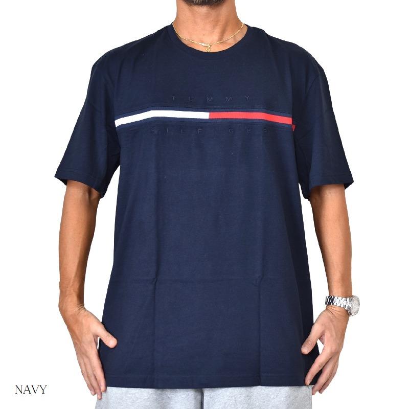 大きいサイズメンズ TOMMY HILFIGER トミーヒルフィガー ロゴ刺繍 半袖Tシャツ TINO XL XXL 【メール便対応】 [M便 1/1]