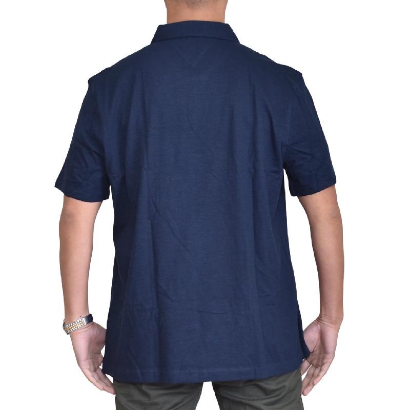 大きいサイズメンズ トミーヒルフィガー TOMMY HILFIGER 半袖 ポロシャツ ワンポイント ネイビー ホワイト 白 XL XXL