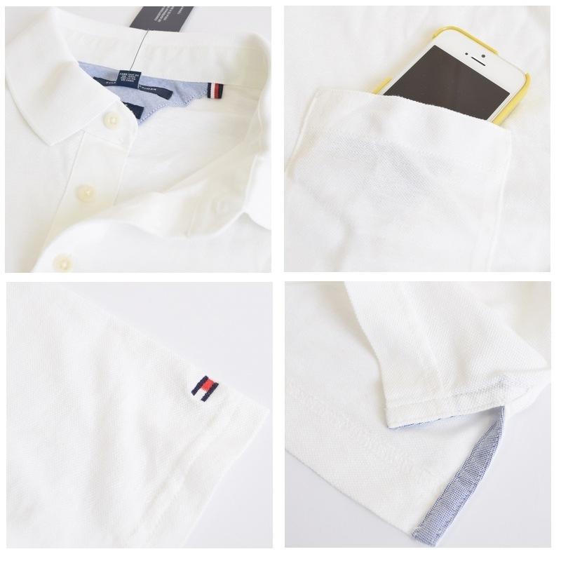 大きいサイズメンズ トミーヒルフィガー TOMMY HILFIGER 半袖 ポロシャツ 麻混 ポケット ホワイト 白 XL XXL