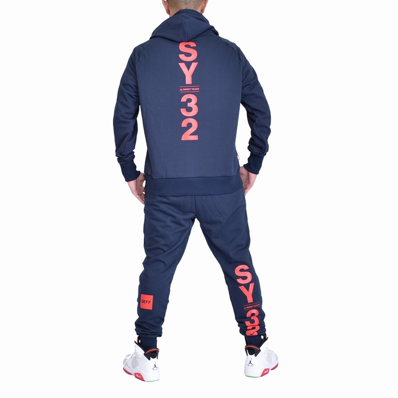 【SY32×DEFF】 大きいサイズ メンズ SY32 by SWEET YEARS スウィートイヤーズ スウェット フード プルオーバー パーカー セットアップ 上下 上下 XXL XXXL XXXXL [SY-011-H]