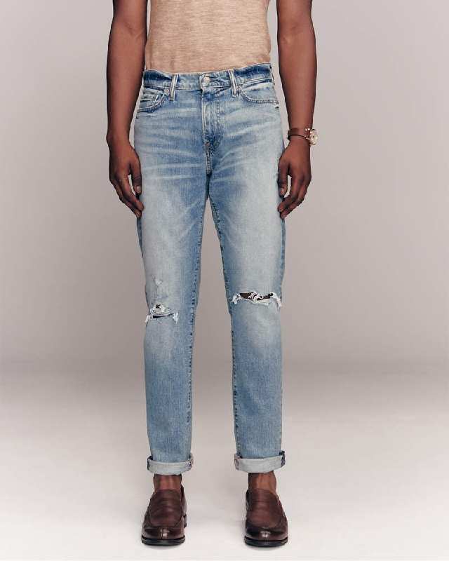 大きいサイズ メンズ アバクロンビー&フィッチ Abercrombie&Fitch スキニー ジーンズ デニムパンツ ジーパン ストレッチ ダメージ Ripped Athletic Skinny Jeans W38インチ