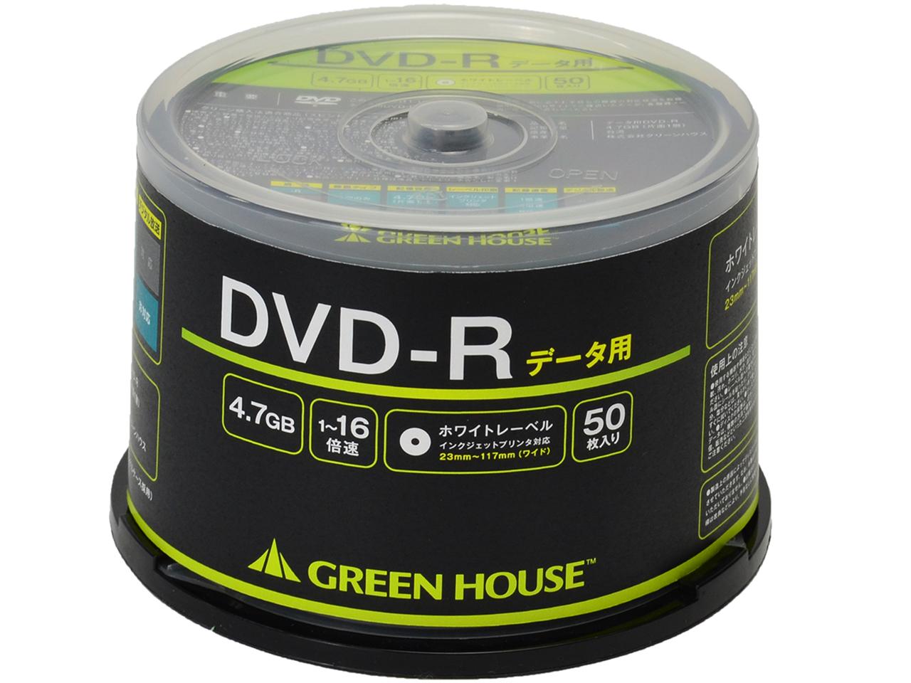 GH-DVDRDA50 [DVD-R 16倍速 50枚組]