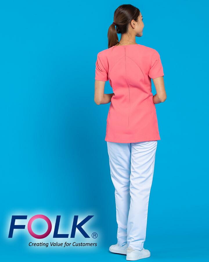 スクラブ ワコール HI700 ワコールHIコレクション FOLK地 女性用 ユニフォーム 医療用 病院 白衣 クリニック フォーク 術衣 デグズ