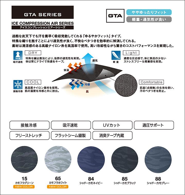 イーブンリバー GTA-06 アイスコンプレッションエアー 長袖 インナーウェア UVカット 消臭 接触冷感【送料無料】【即日発送】 デグズ