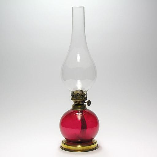 ルビーガラス・オイルランプ