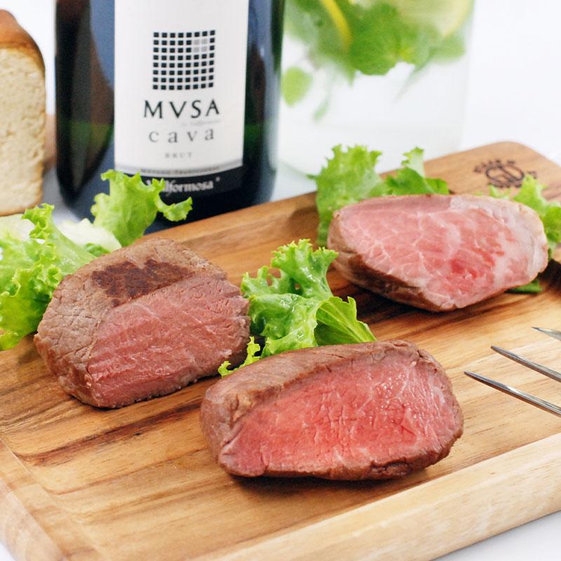 氷温熟成ローストビーフ食べ比べ 牛ヒレ・サーロイン・モモ各85g