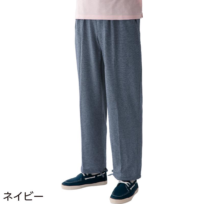 おばあちゃんおじいちゃん高齢親へのおすすめプレゼントランキング 吸汗速乾 サマーニットパンツ 紳士 L/ネイビー