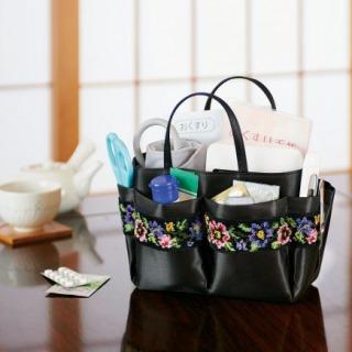 おばあちゃんおじいちゃん高齢親へのおすすめプレゼントランキング 持ち運べる小物入れ シェニール織 小物バッグ
