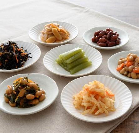 シニアが噛みやすいお惣菜 7個セット( 金時豆、金平ごぼう、ふき煮、ひじき煮他)_