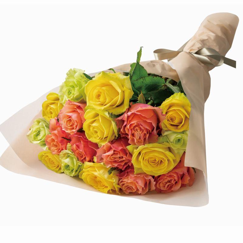 人気プレゼントランキング 祖父・祖母・父親・母親・高齢者へバラの花束(生花) ビタミン 18本-ホシファーム