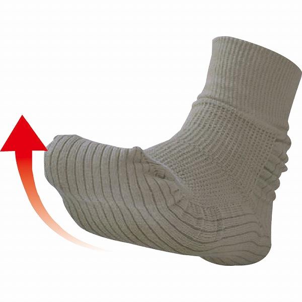 つまづきにくい転倒予防靴下 25〜26cm/グレー