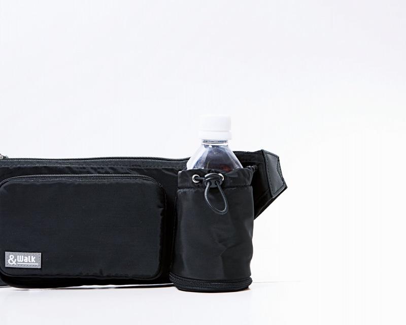軽量ウォーキングバッグ ドリンクホルダー付/ブラック~