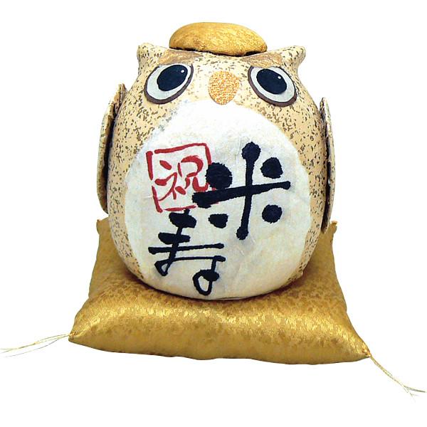 おばあちゃんおじいちゃん高齢親へのおすすめプレゼントランキング ちぎり和紙 長寿の祝いふくろう 「米寿」