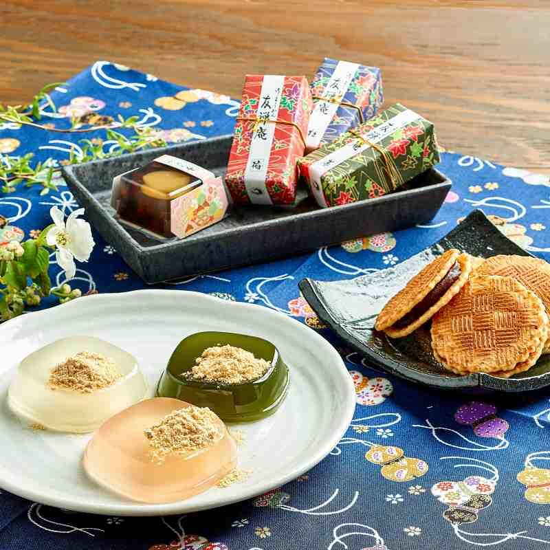 花利休 和菓子詰め合わせ8種14個(くずもち・羊羹・栗かのこ・餡せんべい)