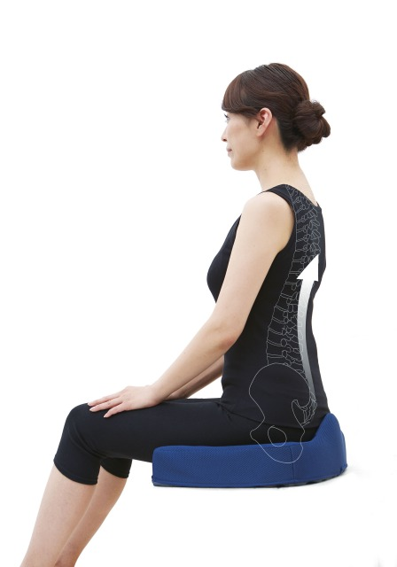 腰痛対策クッション 正しい姿勢で疲れにくいケアグッズ ブラウン