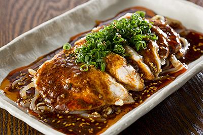 地鶏のよだれ鶏 特製麻辣醤油ダレ