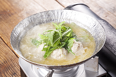鶏白湯地鶏つくね鍋