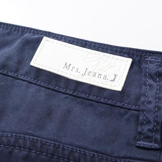 【SALE】Mrs.Jeana テンセルカラークロップドストレート MJ4386