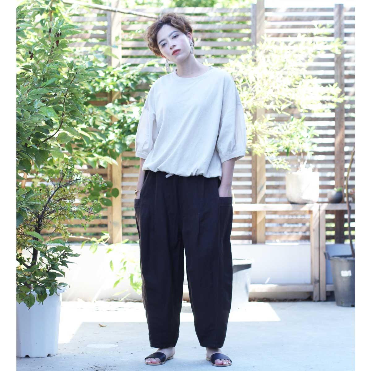\全品ポイント5倍/Cafetty バルーンサルエル CF0402
