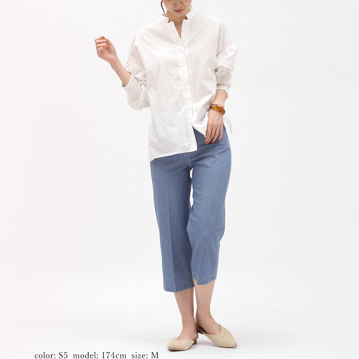 【SALE】Mrs.Jeana GOLD ■涼■クロップドワイド GM3866